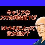 モバイル業界の変革と今後のMVNOの展開